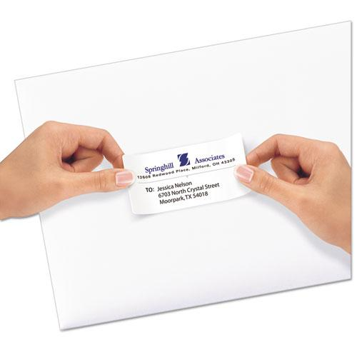 Repositionable Address Labels w/Sure Feed, Inkjet/Laser, 2 x 4, White, 250/Box. Picture 2