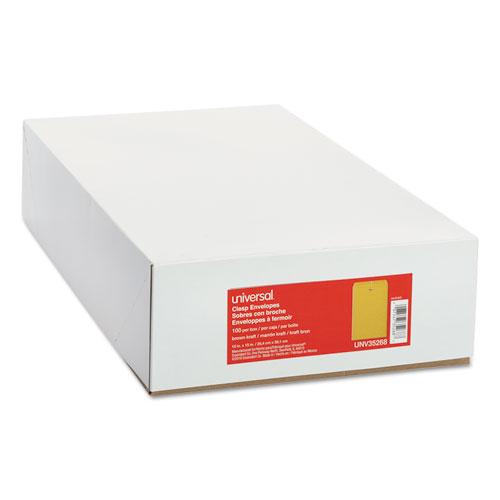Kraft Clasp Envelope, #98, Square Flap, Clasp/Gummed Closure, 10 x 15, Brown Kraft, 100/Box. Picture 2