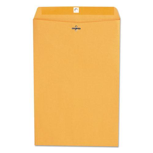 Kraft Clasp Envelope, #98, Square Flap, Clasp/Gummed Closure, 10 x 15, Brown Kraft, 100/Box. Picture 1