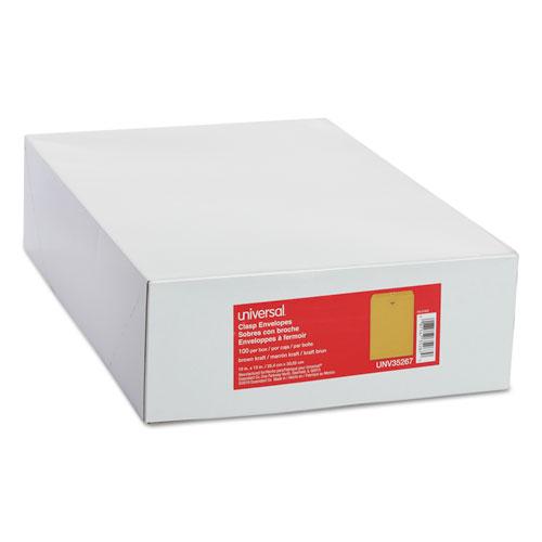 Kraft Clasp Envelope, #97, Squar Flap, Clasp/Gummed Closure, 10 x 13, Brown Kraft, 100/Box. Picture 4