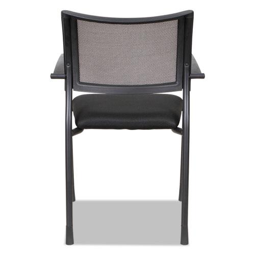 Alera Eikon Series Stacking Mesh Guest Chair, Black Seat/Black Back, Black Base, 2/Carton. Picture 8