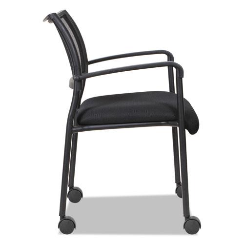 Alera Eikon Series Stacking Mesh Guest Chair, Black Seat/Black Back, Black Base, 2/Carton. Picture 9