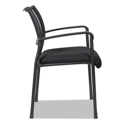 Alera Eikon Series Stacking Mesh Guest Chair, Black Seat/Black Back, Black Base, 2/Carton. Picture 11