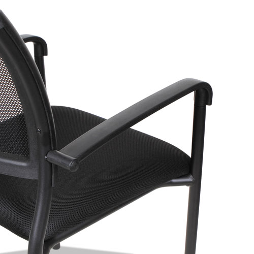 Alera Eikon Series Stacking Mesh Guest Chair, Black Seat/Black Back, Black Base, 2/Carton. Picture 12