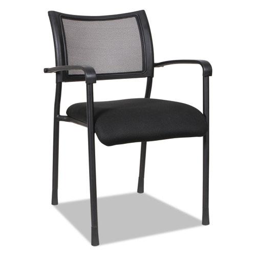 Alera Eikon Series Stacking Mesh Guest Chair, Black Seat/Black Back, Black Base, 2/Carton. Picture 13