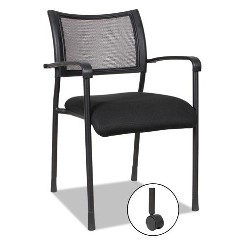 Alera Eikon Series Stacking Mesh Guest Chair, Black Seat/Black Back, Black Base, 2/Carton. Picture 14