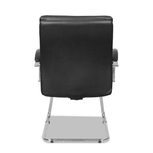 Alera Neratoli Slim Profile Guest Chair, 23.81'' x 27.16'' x 36.61'', Black Seat/Black Back, Chrome Base. Picture 2