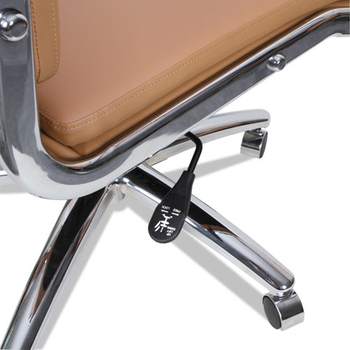 Alera Neratoli High-Back Slim Profile Chair, Supports up to 275 lbs, Camel Seat/Camel Back, Chrome Base. Picture 5