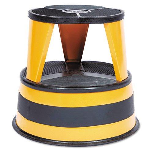 "Kik-Step Steel Step Stool, 2-Step, 350 lb Capacity, 16"" dia. x 14.25h, Orange. Picture 1"