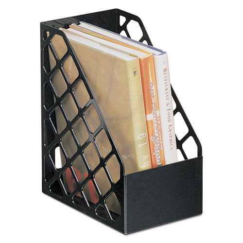 Recycled Plastic Large Magazine File, 6 1/4 x 9 1/2 x 11 3/4, Black. Picture 1