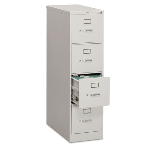310 Series Four-Drawer Full-Suspension File, Letter, 15w x 26.5d x 52h, Light Gray. Picture 1