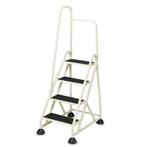 """Stop-Step Ladder, 66.25"""" Working Height, 300 lbs Capacity, 4 Step, Beige. Picture 1"""