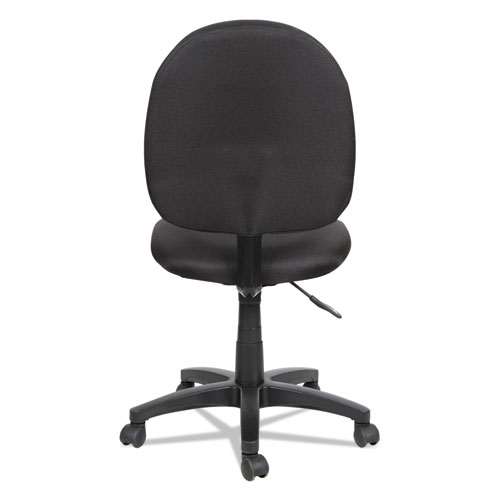 Alera Essentia Series Swivel Task Chair, Supports up to 275 lbs, Black Seat/Black Back, Black Base. Picture 4