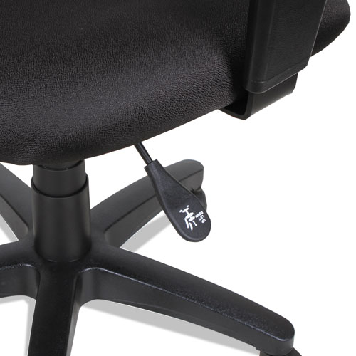 Alera Essentia Series Swivel Task Chair, Supports up to 275 lbs, Black Seat/Black Back, Black Base. Picture 7