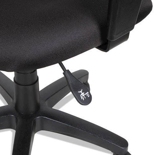 Alera Essentia Series Swivel Task Chair with Adjustable Arms, Supports up to 275 lbs, Black Seat/Black Back, Black Base. Picture 5