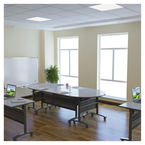 Alera Valencia Flip Training Table Base, Modesty Panel, 28.5 x 19.75 x 28.5, Black. Picture 9