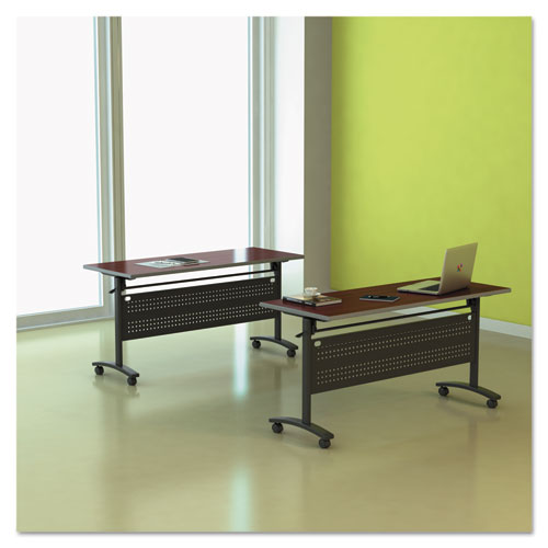 Alera Valencia Flip Training Table Base, Modesty Panel, 57.88 x 19.75 x 28.5, Black. Picture 11