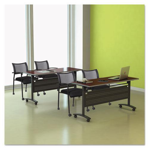Alera Valencia Flip Training Table Base, Modesty Panel, 57.88 x 19.75 x 28.5, Black. Picture 10