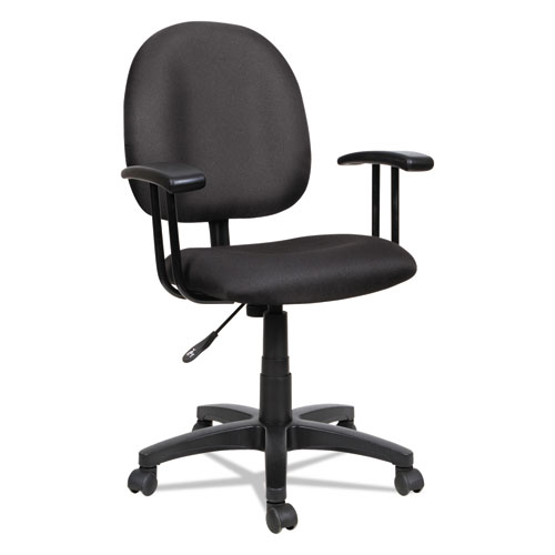 Alera Essentia Series Swivel Task Chair, Supports up to 275 lbs, Black Seat/Black Back, Black Base. Picture 6