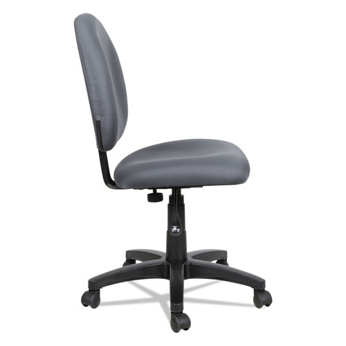 Alera Essentia Series Swivel Task Chair, Supports up to 275 lbs, Gray Seat/Gray Back, Black Base. Picture 4