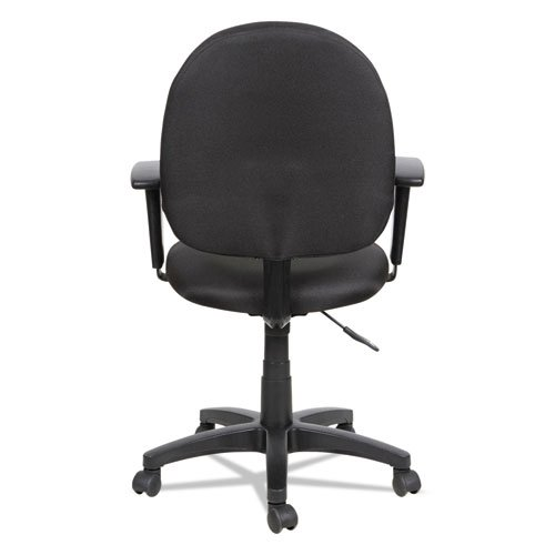 Alera Essentia Series Swivel Task Chair with Adjustable Arms, Supports up to 275 lbs, Black Seat/Black Back, Black Base. Picture 11