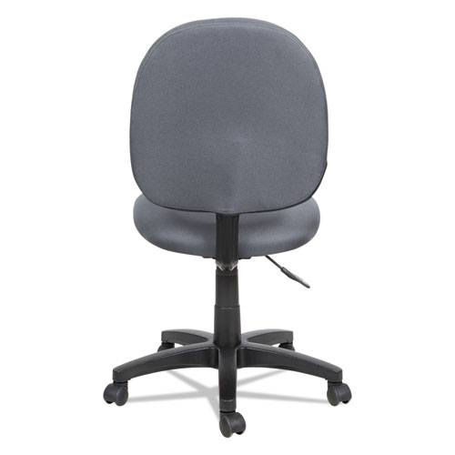Alera Essentia Series Swivel Task Chair, Supports up to 275 lbs, Gray Seat/Gray Back, Black Base. Picture 5