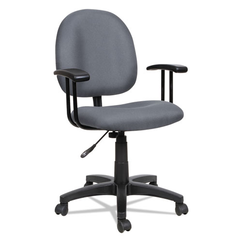 Alera Essentia Series Swivel Task Chair, Supports up to 275 lbs, Gray Seat/Gray Back, Black Base. Picture 7
