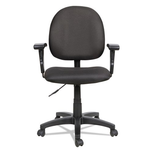 Alera Essentia Series Swivel Task Chair with Adjustable Arms, Supports up to 275 lbs, Black Seat/Black Back, Black Base. Picture 7