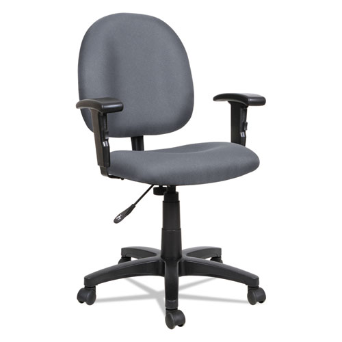 Alera Essentia Series Swivel Task Chair, Supports up to 275 lbs, Gray Seat/Gray Back, Black Base. Picture 6