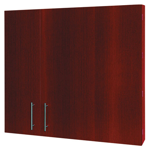 Conference Cabinet, Porcelain Magnetic, Dry Erase, 48 x 48, Cherry. Picture 4