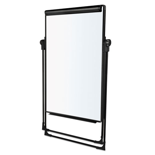 Folds-to-a-Table Melamine Easel, 28 1/2 x 37 1/2, White, Steel/Laminate. Picture 2