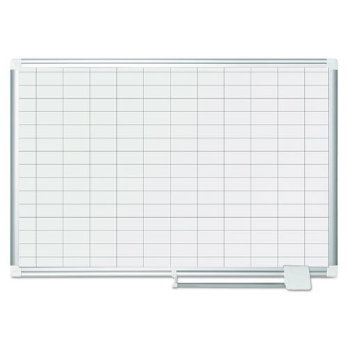 Grid Planning Board, 1 x 2 Grid, 36 x 24, White/Silver. Picture 2