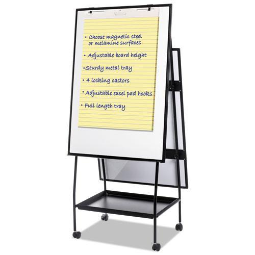Creation Station Dry Erase Board, 29 1/2 x 74 7/8, Black Frame. Picture 3