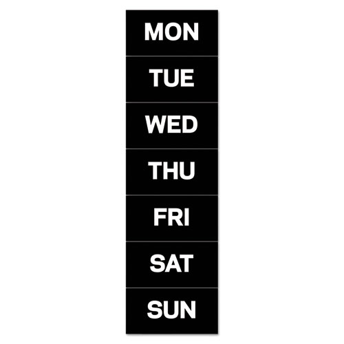 """Interchangeable Magnetic Board Accessories, Days of Week, Black/White, 2"""" x 1"""". Picture 1"""