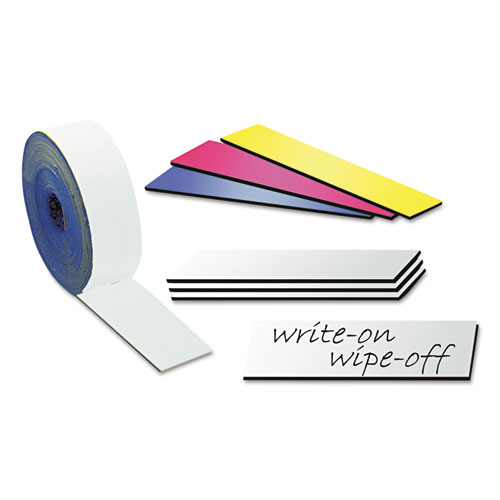 """Dry Erase Magnetic Tape Strips, Red, 2"""" x 7/8"""", 25/Pack. Picture 2"""