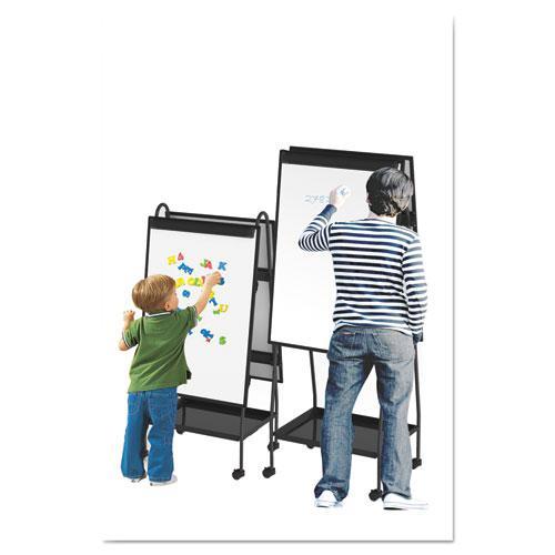 Creation Station Dry Erase Board, 29 1/2 x 74 7/8, Black Frame. Picture 4