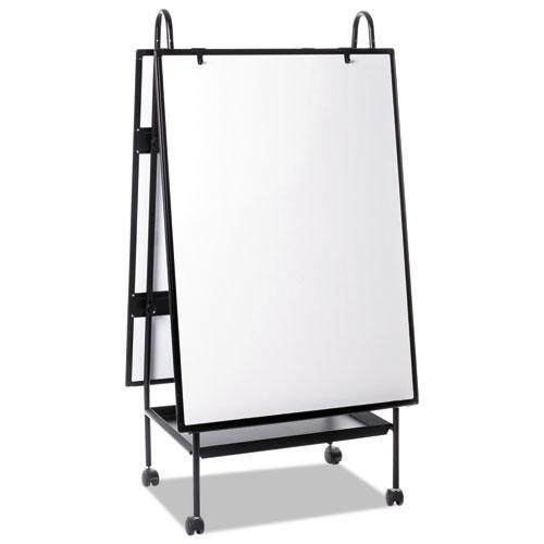 Creation Station Dry Erase Board, 29 1/2 x 74 7/8, Black Frame. Picture 6