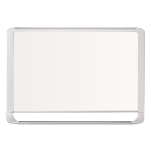 Lacquered Steel Magnetic Dry Erase Board, 48 X 96, Silver