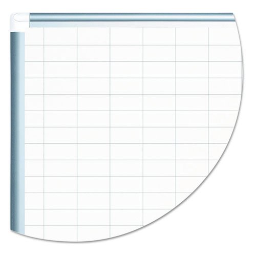 Grid Planning Board, 1 x 2 Grid, 36 x 24, White/Silver. Picture 5