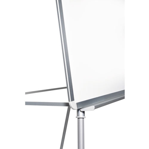 """Silver Easy Clean Dry Erase Quad-Pod Presentation Easel, 45"""" to 79"""", Silver. Picture 4"""