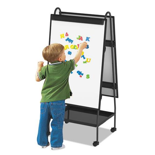 Creation Station Dry Erase Board, 29 1/2 x 74 7/8, Black Frame. Picture 10