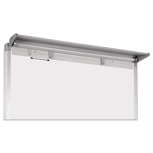"""Silver Easy Clean Dry Erase Quad-Pod Presentation Easel, 45"""" to 79"""", Silver. Picture 5"""