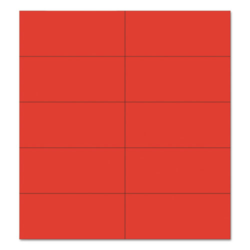 """Dry Erase Magnetic Tape Strips, Red, 2"""" x 7/8"""", 25/Pack. Picture 1"""