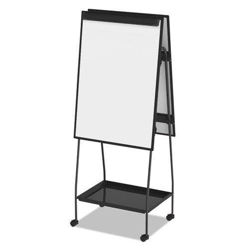 Creation Station Dry Erase Board, 29 1/2 x 74 7/8, Black Frame. Picture 12