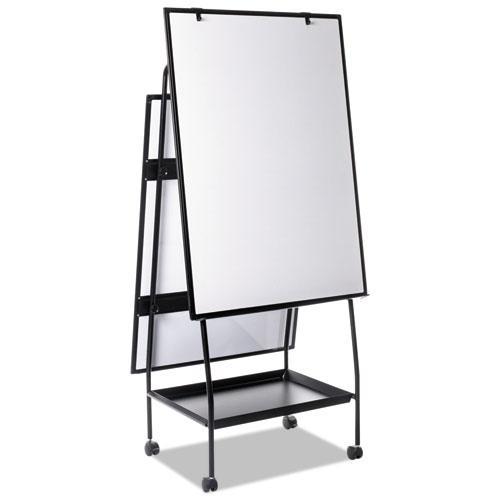 Creation Station Dry Erase Board, 29 1/2 x 74 7/8, Black Frame. Picture 13