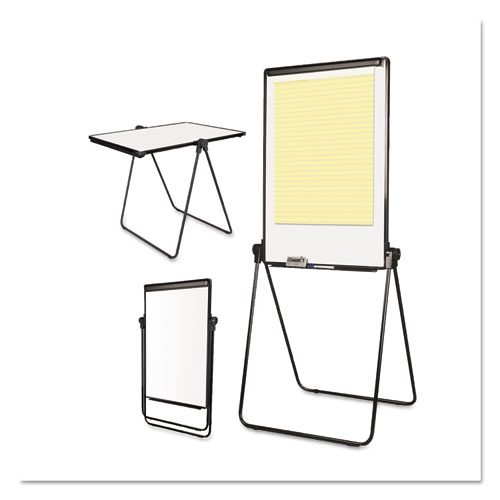 Folds-to-a-Table Melamine Easel, 28 1/2 x 37 1/2, White, Steel/Laminate. Picture 4