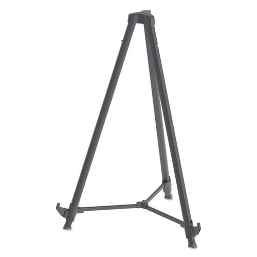 """Quantum Heavy Duty Display Easel, 35.62"""" - 61.22""""H, Plastic, Black. Picture 2"""