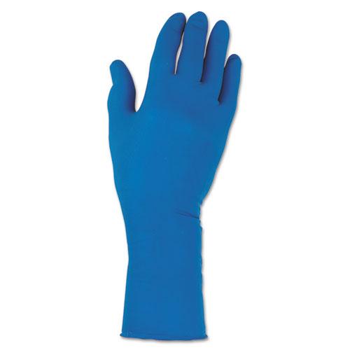 G29 Solvent Resistant Gloves, 295 mm Length, 2X-Large/Size 11, Blue, 500/Carton. Picture 1