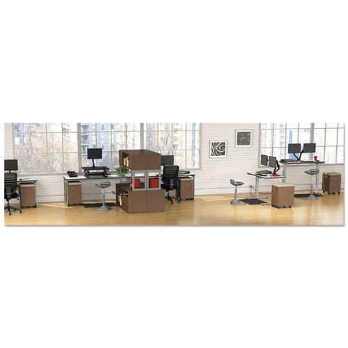 Reversible Laminate Table Top, Rectangular, 71 1/2w x 23 5/8d, White/Gray. Picture 5