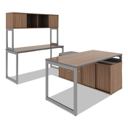 Alera Open Office Low Storage Cabinet Credenza, 29 1/2 x 19 1/8x 22 7/8, Walnut. Picture 11